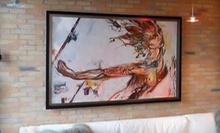 "$100 for 12 3/4"" x 15 3/4"" Wood Frame or Mat and Metal Frame at Liss Gallery Toronto"