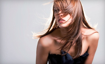 $31 for a Ladies' Cut, Wash, Deep Conditioning & Style at Vanity on Mill Hair Gallery and Spa