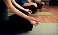 $9 for a Hatha Class at 9:30 a.m. at Bamboo Yoga