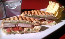 $5 for $9 Worth of Hot Pressed Wraps or Panini Sandwiches at Mumbles Place