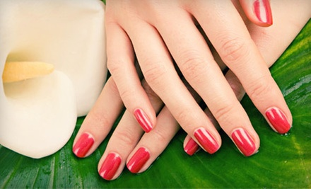 $35 for a Spa Mani-Pedi  at Lucci Beauty Salon & Nails