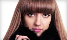 $60 for a Haircut, Blowdry &amp; Hot Towel Moroccan Oil Treatment at Salon Allure Spa