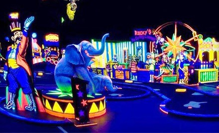 $18 for Glow-In-The-Dark Mini Golf and Pizza for 4 at The People's Choice Family Fun Center