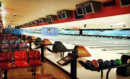 $30 for One Hour Bowling for 4 incl. Shoes and Bottled Soft Drink at Pinz