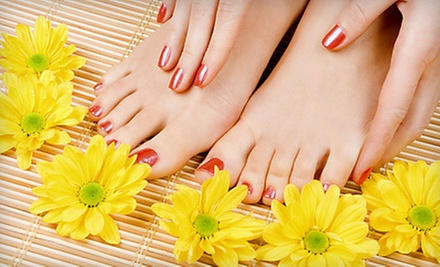 $50 for Classic Manicure and Pedicure at H Design Salon
