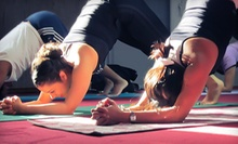 $10 for a Hatha Yoga Class at 7:30 p.m. at Yogashakti Yoga Center