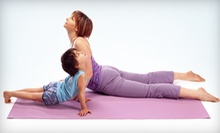 $10 for a 3:30 Mom & Tot Yoga Class  at Peace, Groove & Happiness