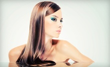 $75 for Partial High/Lowlights, Cut, &amp; Style at Peace Love &amp; Hair