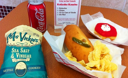 $2 for Kolache Lunch Kombo at Shipley Do-Nuts (12225 Westheimer Road)