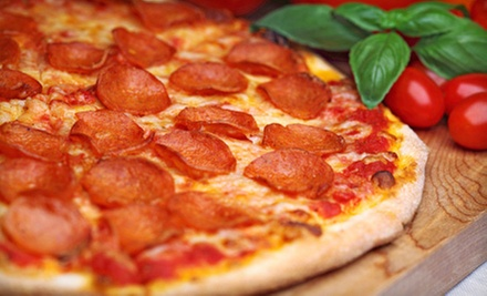 $12 for 1 Large 2-Topping Pizza, 1 Large Caesar Salad & Garlic Bread at Papa Toni's Pizza
