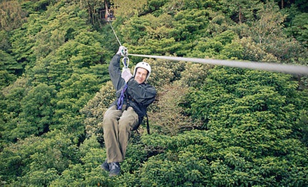 $65 for 9:30 a.m. 6-Zipline for One at Denver Adventures LLC