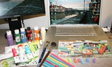 $10 for a One-Hour Painting, Drawing or Graphic Design Session at Fine Art Studio