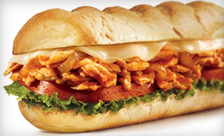 $11 for 2 Regular Subs w/Fries or Chip, and 2 Soft Drinks at Charley&#x27;s Grilled Subs - Orange