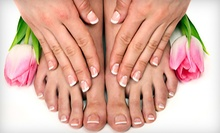 $70 for a Shellac Manicure and Pedicure with Valerie at Salon La Coupe Dallas