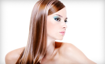 $39 for a Wash, Express Keratin Treatment, Cut, and Blowout  at Pure Perfection Salon and Spa