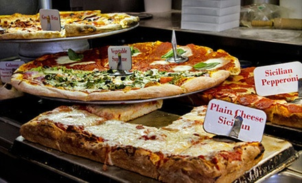 $4 for Two Large Slices of Plain or Vegan Pizza at Washington Deli Pizza and Catering