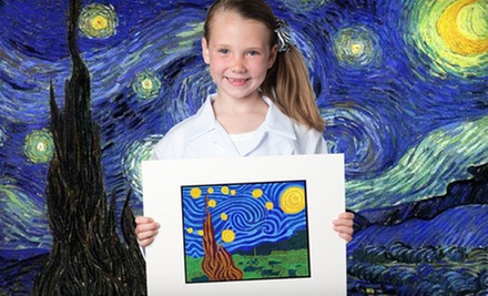 $13 for 5:00-6:30 pm Core Level Art Class (Grades 2-5) at Fibo Kids Art Academy