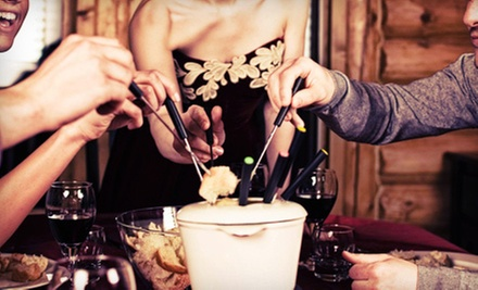$20 for Fondue, a Salad & 2 Glasses of Champagne (Up to $41 Value) at Therapy Wine Bar