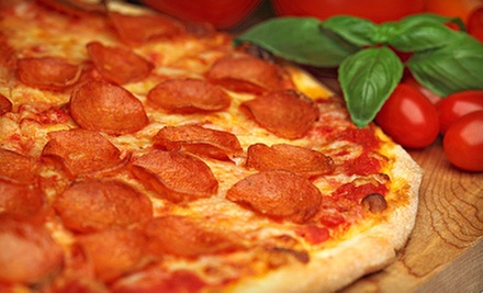 $10 for One Large Three Topping Pizza  at Steph's Pizza