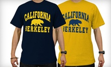 $14 for a Navy or Gold UC Berkeley T-Shirt at Prolific Screen Printing Company