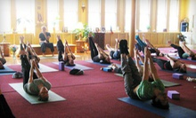 $10 for a Dharma I-II Yoga Class at 10:30 a.m. at Dharma Yoga New York