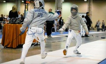$20 for an Adult Beginners Class at 6 p.m.  at Coastside Academy of Fencing