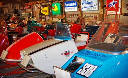 $7 for 2 Admissions at The Snowmobile Barn Museum