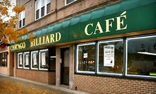 $5 for $10 Worth of Pool Time and Food &amp; Drink at Chicago Billiard Cafe
