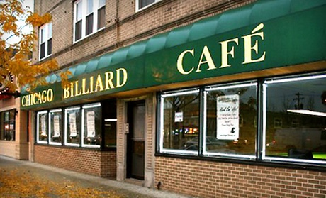 $5 for $10 Worth of Pool Time and Food & Drink at Chicago Billiard Cafe