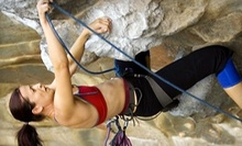"$10 for ""The Works"" All-Day Climbing Pass at Exposure Rock Climbing"