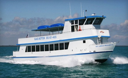 $30 for a 1 p.m. Two-Hour Glass-Bottom-Boat Cruise for Two Adults  at Key Largo Princess