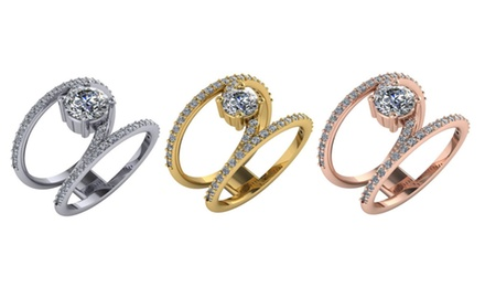 1.50 CTTW Diamond Engagement Ring Set in 14K White, Yellow, Pink, Gold