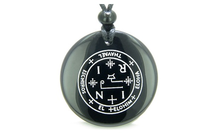 Sigil of the Archangel Thavael Magical Amulet Magic Gemstone Spiritual Powers Pendant Necklace