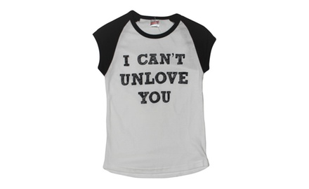 I Can't Unlove You White/Black Cap Tee