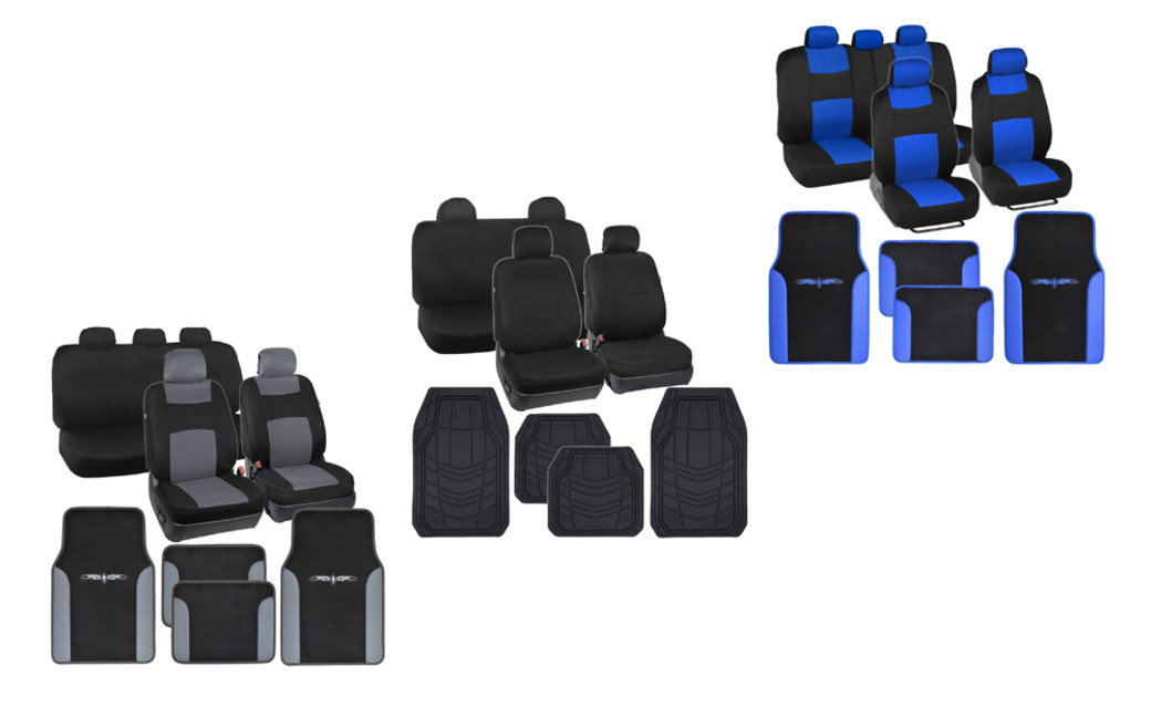Car Seat Cover And Floor Mat Set On Sale At Groupon For 4999