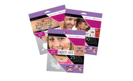 Tulip Body Art Kids Removable Stencil Set - 2 Pack