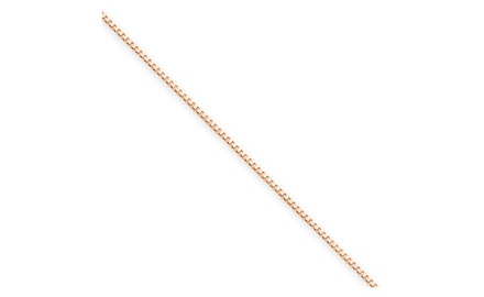 IceCarats Designer Jewelry 14k Rose Gold .70mm Box Link Chain