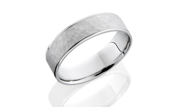 Amazoncom hammered wedding ring
