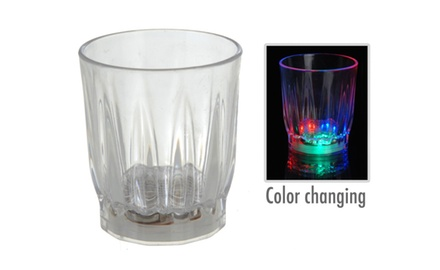 2 Pack: Colorful LED Light-Up Drinking Shot Glass