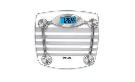 TAYLOR 75774196M Lithium Digital Scale with Etched Stripe Design