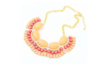 Fan Bib Necklace