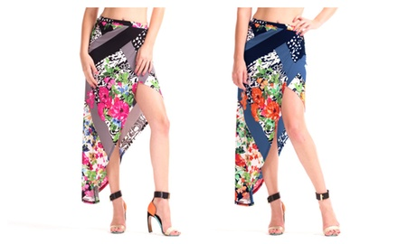 Women's Floral Tulip Knit Skirt