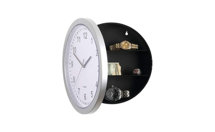 Casual Wall Clock With Secret Hidden Safe