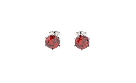 Sterling Silver Earrings with 2CTTW Rubies