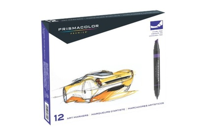 Sanford PrismacoloR Professional Art Markers, Primary/ Secondary Colors, Set Of 12 (3620)