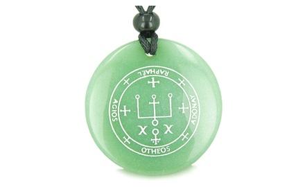 Sigil of the Archangel Raphael Magical Amulet Magic Gemstone Spiritual Powers Pendant Necklace