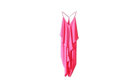 Olivaceous Racerback Ruffle Dress in Pink