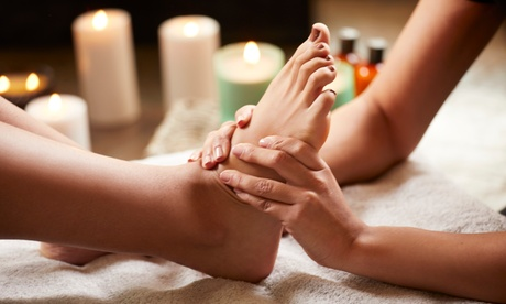 80-Minute Spa Foot Package at Downtown Day Spa (Up to 44% Off). Two Options Available.