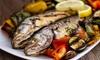 Große Fischplatte vom Grill