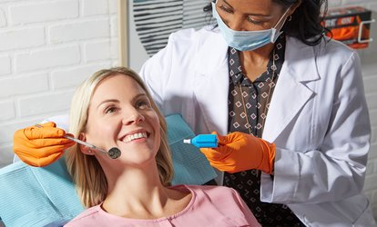 Dental Check-Up, Scale and Polish with Fluoride for One ($45) or Two People ($79) at Martin Place Dental Clinic